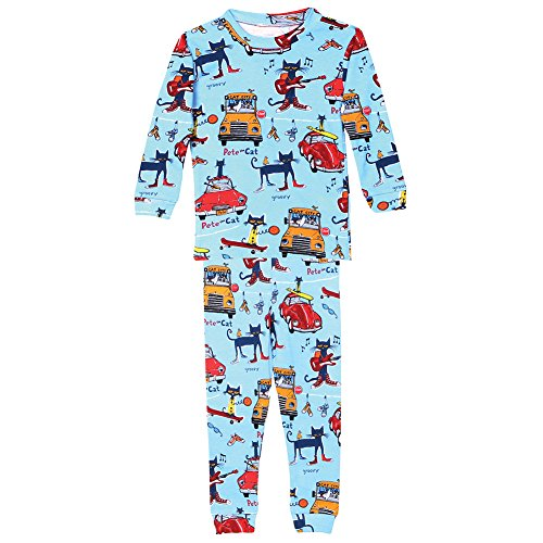 Boy's Pete The Cat Blue Cotton Pajamas - 5 (Blue Cat Pajamas)