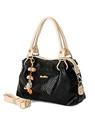 Bagtopia Women's Fashion Premium PU Leather Tote Handbag Candy Colors Crossbody Shoulder Bag with Tassel