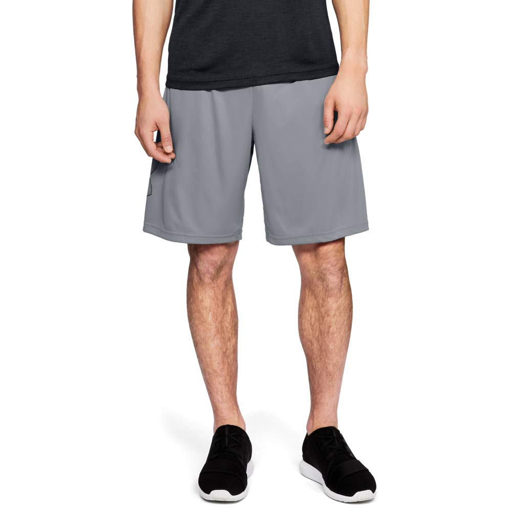Under Armour Men's Tech Graphic Shorts , Steel (035)/Black, X-Large by Under Armour
