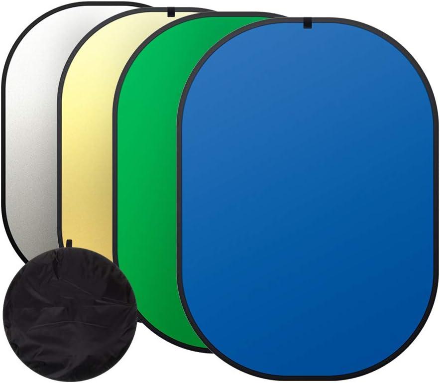 Heorryn 4 In 1 Greenscreen 150 X 200 Cm Foldable Camera Photo
