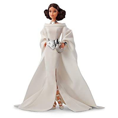 ​Barbie Collector: Star Wars Princess Leia X Barbie Doll, 11.5-Inch Wearing White Gown and Accessories, with Doll Stand and Certificate of Authenticity: Toys & Games