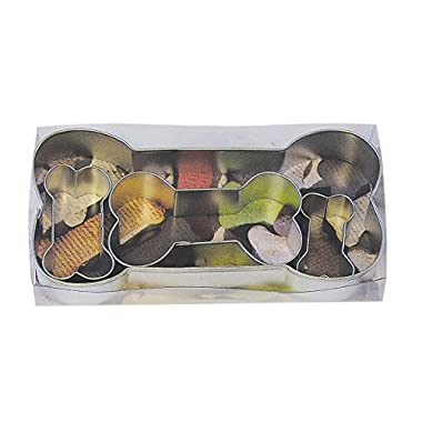 R & M International Best Selling Set of 4 Classic Dog Bone Cookie Cutters Great For Homemade Treats and Crafts 6.5 , 3.5 , 2 , Mini