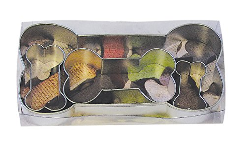 Shaped Bone Cake (R&M International 1906 Dog Bone Cookie Cutters, Assorted Sizes, 4-Piece Set)