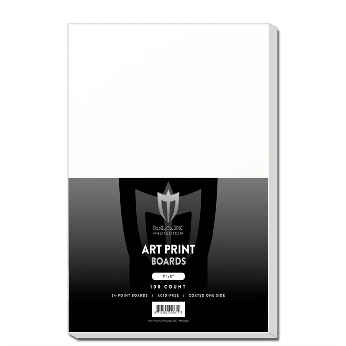 100 ART PRINT Size White Backing Boards by Max Pro (11'' x 17'') - Protect your Collectibles From Bending! by Max Protection