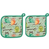 Now Designs Kitchen Style by Basic Pot Holders, Set of Two, Owls