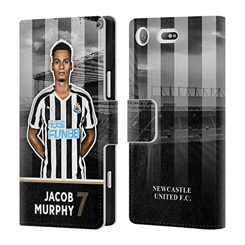 Wallet Compact Murphy (Official Newcastle United FC NUFC Jacob Murphy 2018/19 First Team Group 1 Leather Book Wallet Case Cover for Sony Xperia XZ1 Compact)