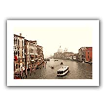 Art Wall Grand Canal from Rialto Unwrapped Canvas Artwork by Linda Parker, 40 by 28-Inch