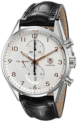TAG-Heuer-Mens-CAR2012FC6235-Carrera-Stainless-Steel-Watch-with-Black-Leather-Band