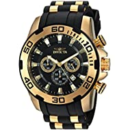 Men's 'Pro Diver' Quartz Stainless Steel and Silicone Casual Watch, Color:Black (Model: 22340)