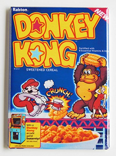 Donkey Kong Cereal Box Fridge Magnet (2 x 3 inches)