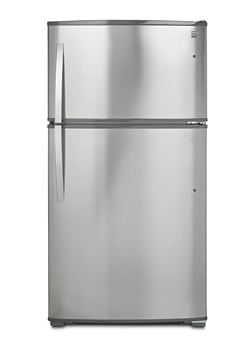 Kenmore 71215 21 cu.ft. Top-Freezer Refrigerator with Ice Maker and LED Lighting in Stainless Steel with Active Finish, includes delivery and hookup