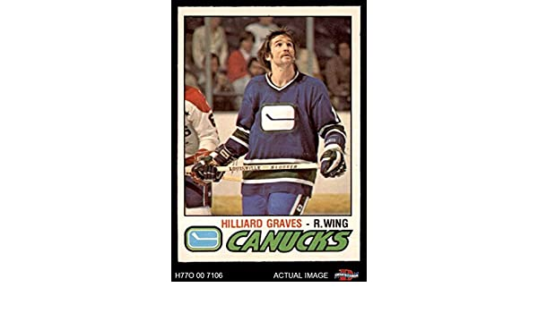 Amazon.com: 1977 O-Pee-Chee # 286 Hilliard Graves Canucks (Hockey Card) Deans Cards 7 - NM Canucks: Collectibles & Fine Art