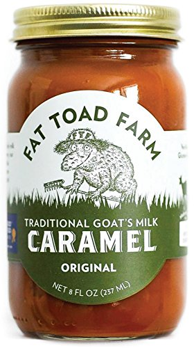 Fat Toad Farm Traditional Goat's Milk Caramel Sauce, Original, 8fl oz Jar, Cajeta, Gluten Free made in New England