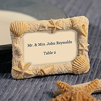 Amazon.com - Beach Themed Wedding Place Card Frames - Sand, Stars ...