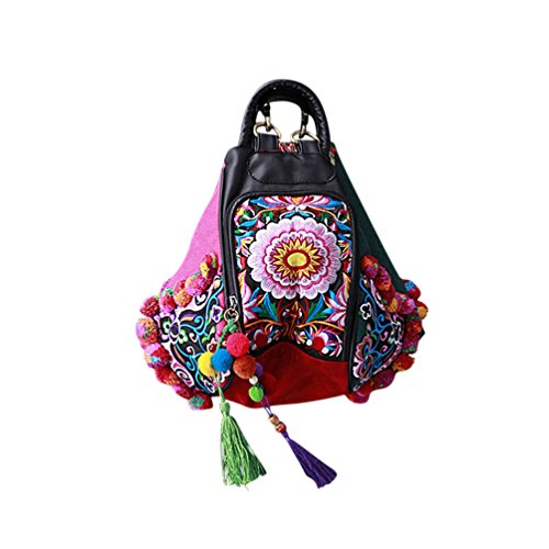 147 100 Fait à Besace Femme Dos Sac Main Oriental Broderie Tribal d'Art xPprxg