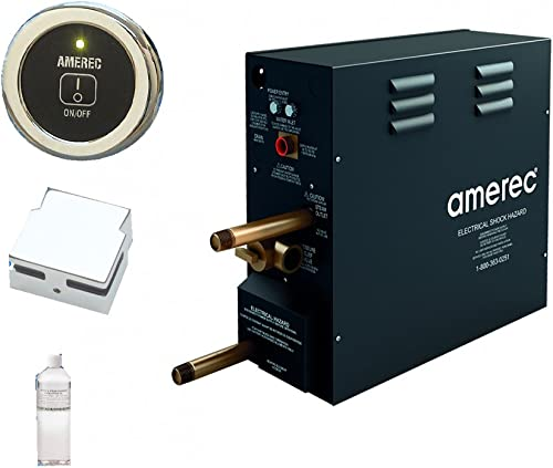 Amerec AK 7.5 KW Steam Bath Generator with R30K On Off Control – Steam Head and Free Aroma Therapy Oil