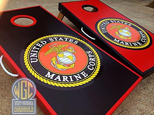Marine Corps Cornhole Board Set by West Georgia Cornhole