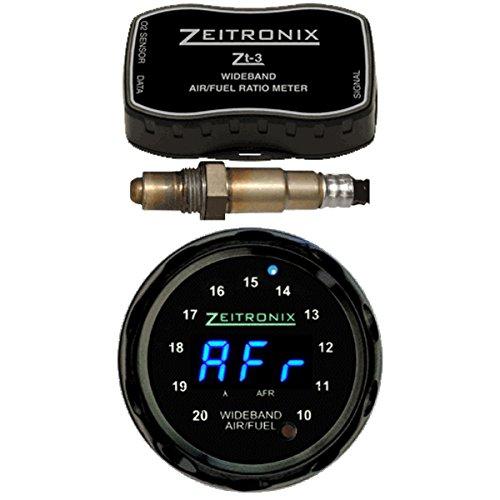Zeitronix ZT-3 ZR-1 Blue & Black Bezel AFR Data Logger & Lambda Wideband Gauge Display Bundle