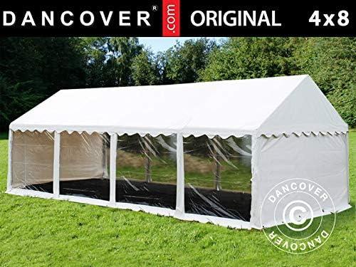 Dancover Carpa para Fiestas Carpa Eventos Original 4x8m PVC, Panorámica, Blanco: Amazon.es: Jardín
