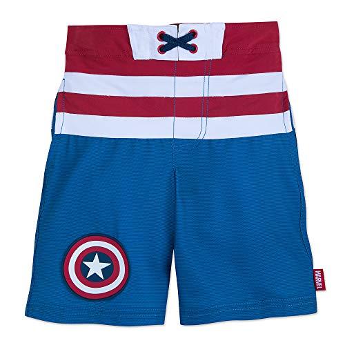 Marvel Captain America Swim Trunks for Kids Size 7/8 Blue
