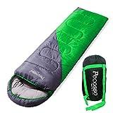 sleeping bag - Pecosso Ultralight Sleeping Bag : Outdoor Warming Compression Sack - Comfort, Lightweight, Waterproof, 3-4 Season Packable Bag for Camping, Travel, Backpacking, Hiking Fit Kid/Men/Women (Green)