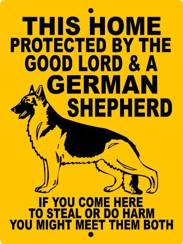 """GERMAN SHEPHERD DOG SIGN 9""""x12"""" ALUMINUM """"ANIMALZRULE ORIGINAL DESIGN - """"NO ONE ELSE IS AUTH0RIZED TO SELL THIS SIGN"""" (Any one else selling this sign is selling a CHEAP COPY)"""