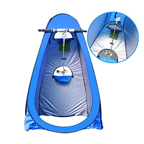Lff Entry - Portable Instant Pop Up Tent Camping Toilet Tent Outdoor Shower Changing Clothes Easy to Install and Storage Bathing Storage Room Tents - Blue, Green,Blue