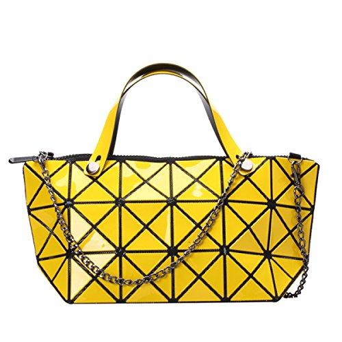Bolso De Bandolera Geométrica De La Moda De Las Mujeres Yellow
