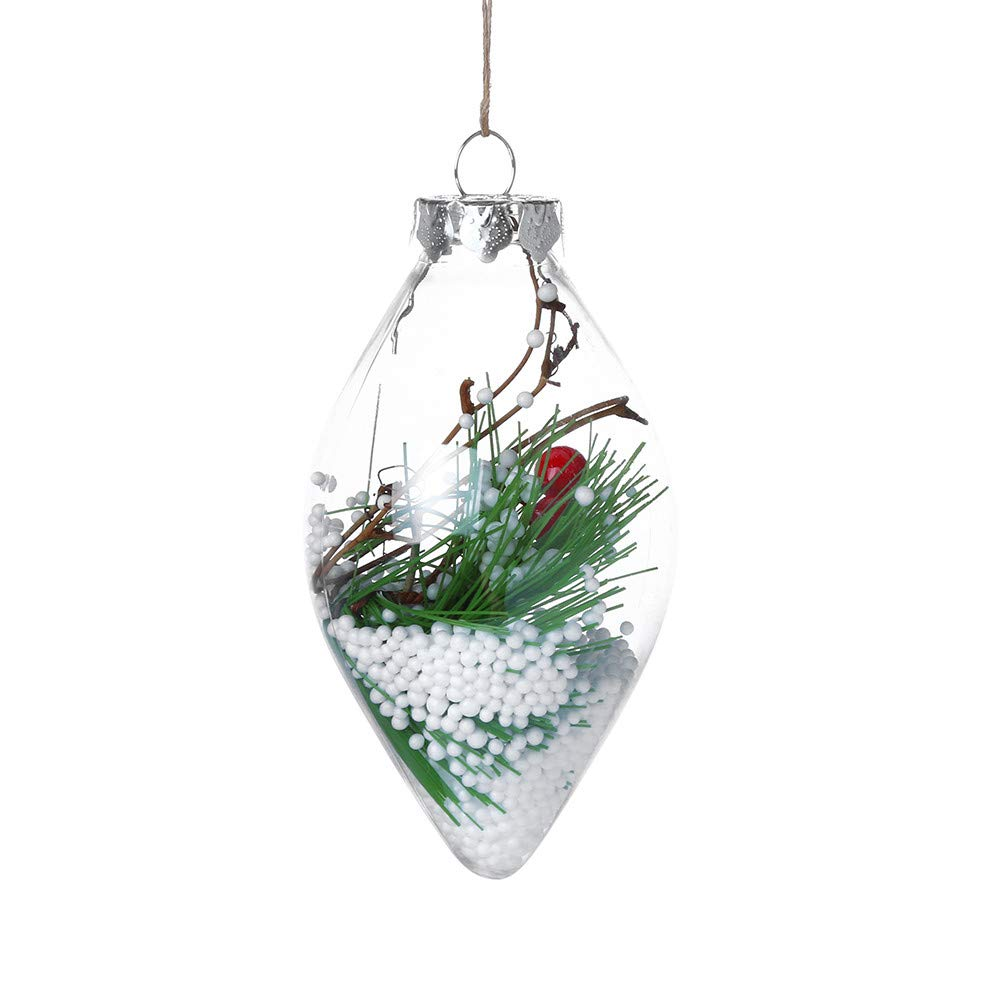 Amazon Com Christmas Ornament Transparent Christmas Tree Design