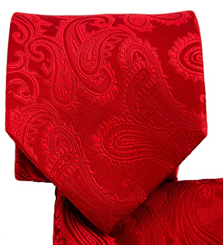 Red Paisley Necktie and Pocket Square (Red Paisley Necktie)