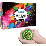 6 Luxury Bath Bombs Gift Set, Specially Handmade with Sea Salt & Premium Essential Oils - Moisturizes & Relaxes the Muscles, for Skin Suppleness, Balances and Controls the Excess Oil of the Skin