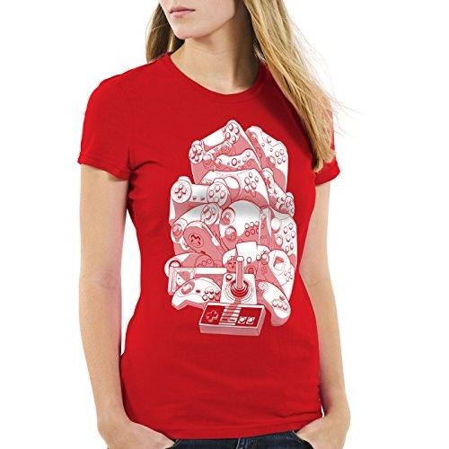 n Jeux Retro Jeu t Gamepad T Rouge A shirt Gamer Console Vidéo Madness Femme De dvzxqawx