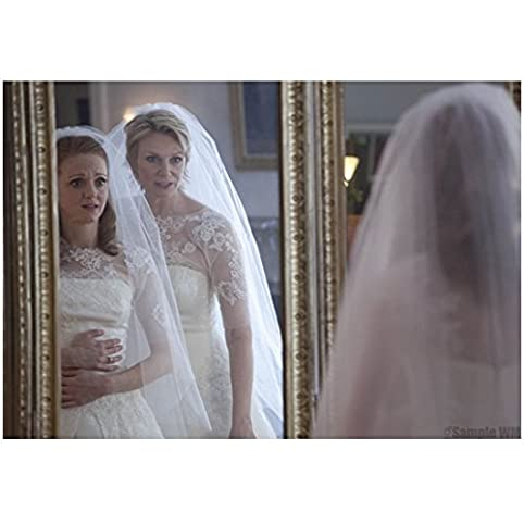 Glee Jayma Mays As Emma With Jane Lynch Sue Sylvester In Wedding Gowns 8 X