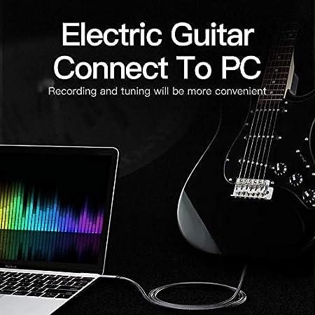 5M LinkinPerk Cable 3,5mm a 6,35mm,Cable Audio Est/éreo HiFi Macho a Macho para m/óviles,Guitarras Amplificadores Mesas de Mezclas,Tablets Cine en Casa