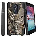 Case for ZTE Zmax Pro (MetroPCS) [SHOCK FUSION] High Impact Dual Layer Case with Kickstand by Miniturtle - Hunters Camouflage