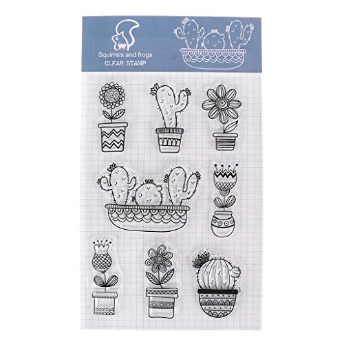 - Zoeyomg Cactus Clear Silicone Stamp Seal for DIY Scrapbooking Photo Album Decor