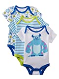 Disney Baby Infant Boys 3-Pack Monsters Inc. Bodysuits