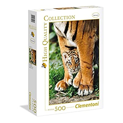 Clementoni 35046 Puzzle Bengal Tiger Cub Between Its Mot