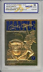 YEAR: 1996 PLAYER: Mickey Mantle COMPANY/BRAND: Bleachers 23KT Gold CONDITION: Gem Mint 10 LIMITED EDITION: Each Card Individually Serial Numbered NOTES: Baseball's All-Time Great Sculptured Gold Card