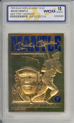 MICKEY MANTLE 1996 23KT Gold Card *Baseball's All-Time Great* Graded GEM MINT 10
