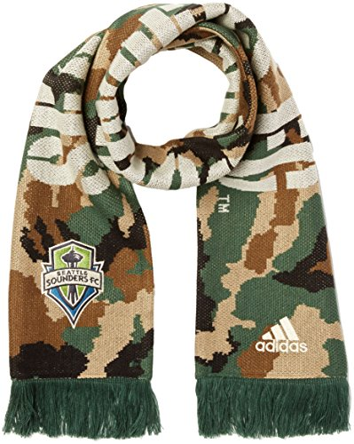 MLS Seattle Sounders FC Adult Jacquard Scarf, One Size, Camo