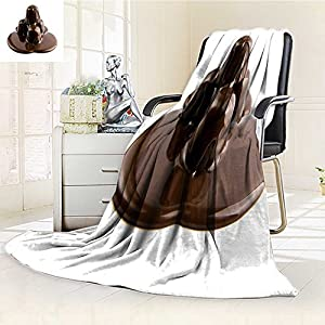 """Fleece Blanket 300 GSM Anti-static Super Soft candys in a chocolate on a white background Warm Fuzzy Bed Blanket Couch Blanket(60""""x 50"""")"""
