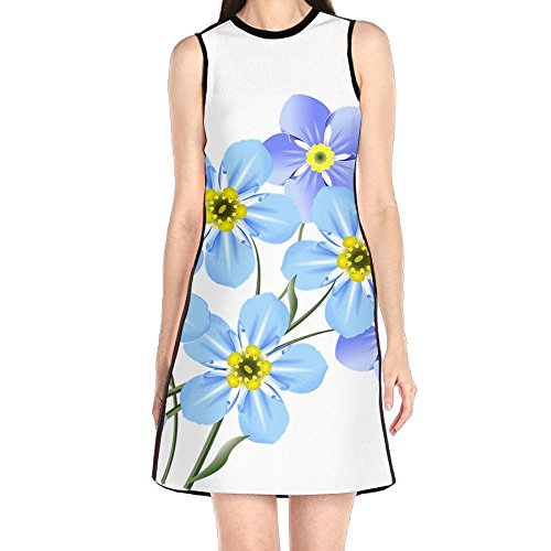 forget me not blue dress - 1