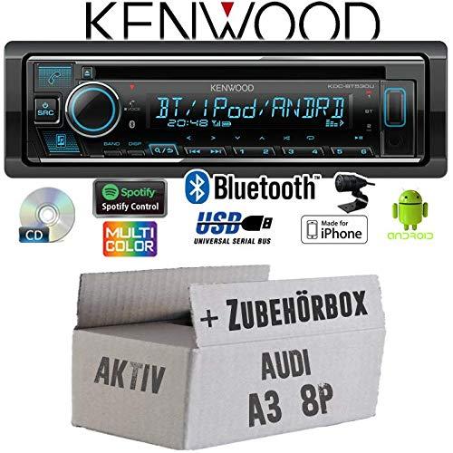 Audi A3 8P AKTIV - Autoradio Radio Kenwood KDC-BT530U - Bluetooth | Spotify | iPhone | Android | CD/MP3/USB - Einbauzubehö r - Einbauset JUST SOUND best choice for caraudio