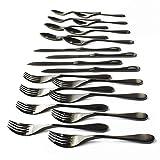 Knork Black Matte Titanium Coated Stainless 20-Piece Set
