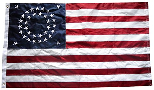 (3x5 Ft Nylon Embroidered 35 Stars Union Historical USA American Flag)
