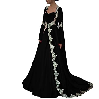 Lemai Vintage 2 Pieces White Lace Prom Evening Dresses With Long Sleeves Coat Black US 2