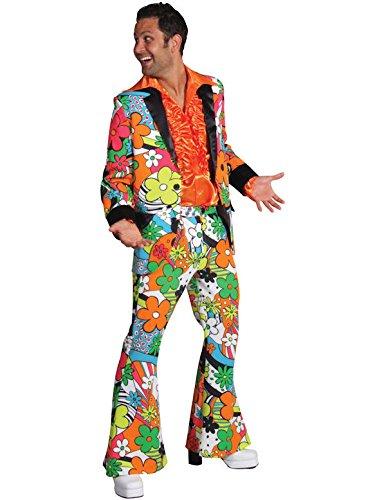 Adult Floral 70s Suit - Medium Fancy Dress