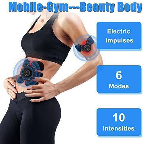 ROKOO Ultimate Abs Stimulator Muscle Stimulator Equipment for Men Women at Home Gym Office Travel 3