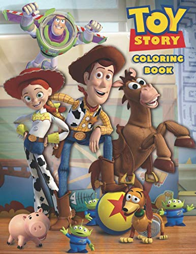 - Toy Story Coloring Book: Coloring Book for Kids and Adults - 40 illustrations